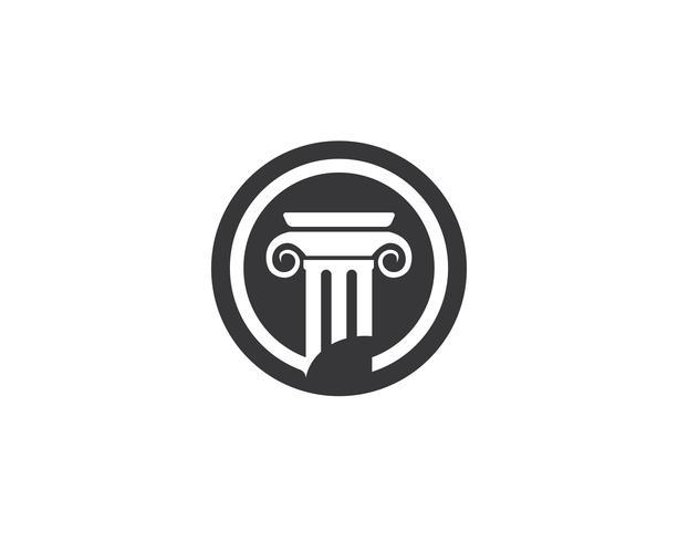 vettore di logo di legge