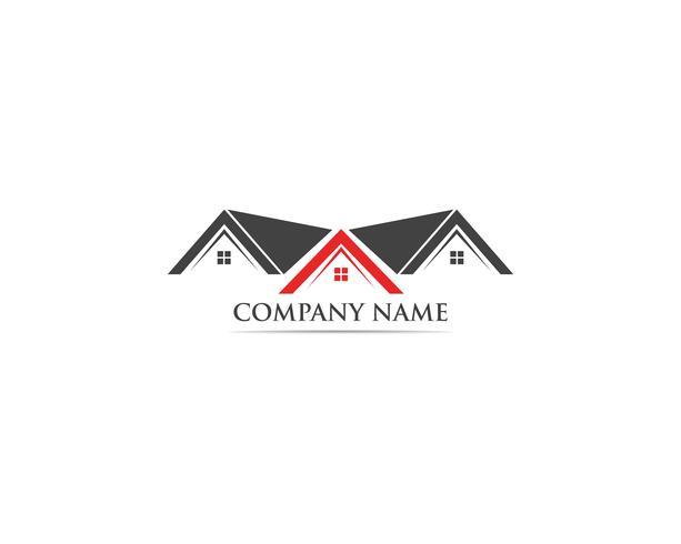 Home logo vector template building