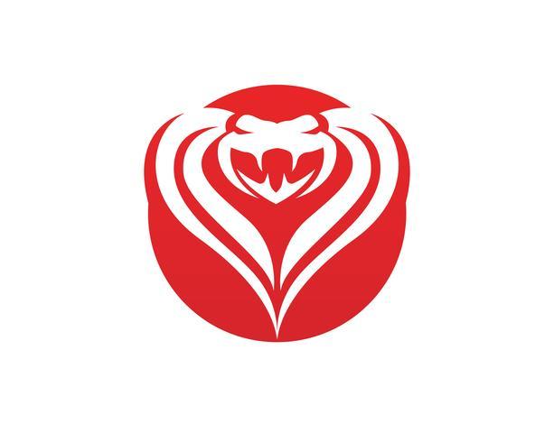 Elemento de diseño de logotipo viper serpiente. icono de serpiente de peligro. símbolo de víbora