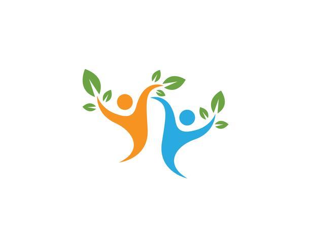 Vetor de modelo de logotipo de vida saudável