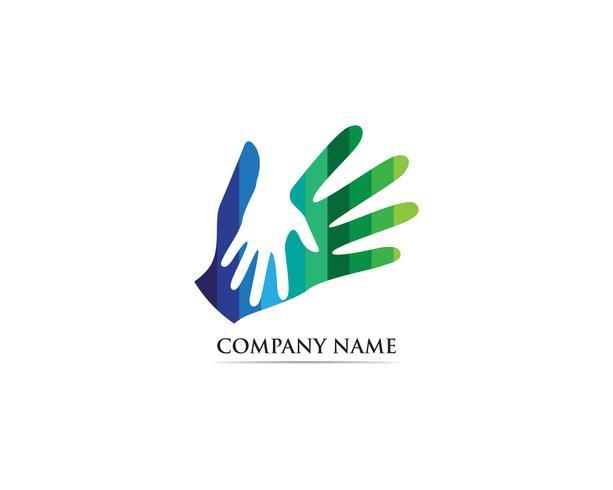 Hand care adoption logo vector