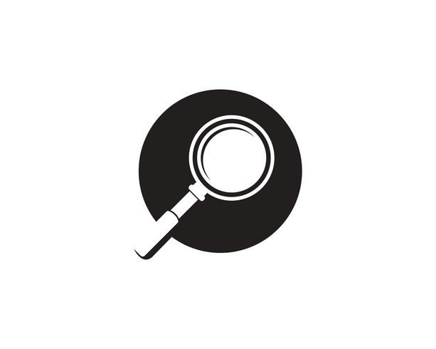 magnifying glass icons logo