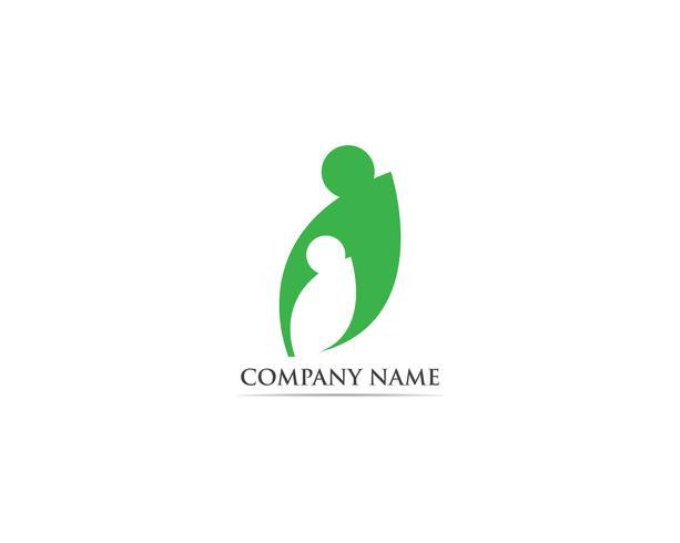 Logotipo de adoção e vetor de símbolo