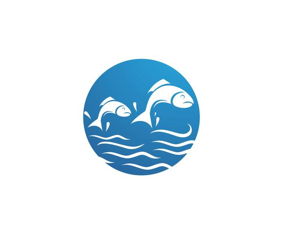 Modelo de logotipo de peixe. Símbolo de vetor criativo do clube de pesca ou on-line