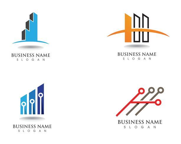 Finanzgeschäftslogo und Symbolvektor