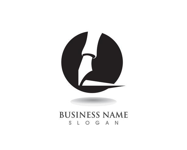 pluma Logo plantilla Vector ilustración negocio