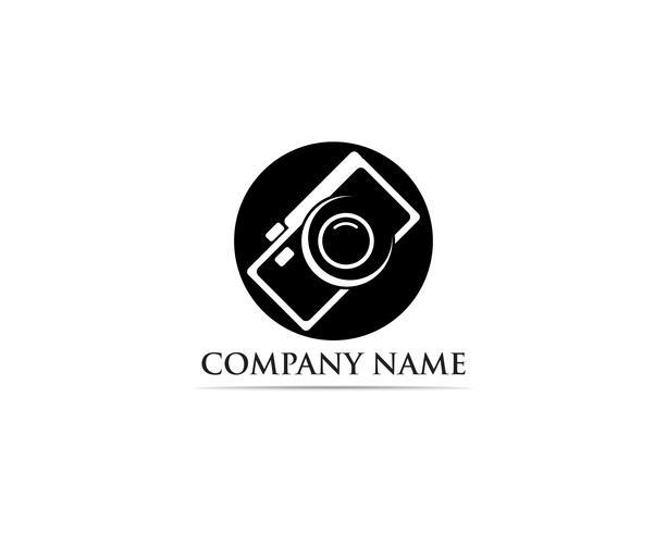 Fotografie Logo Vector-Illustratorschwarzes