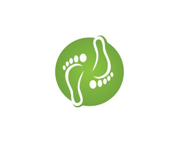 símbolos de modelo de logotipo de pé