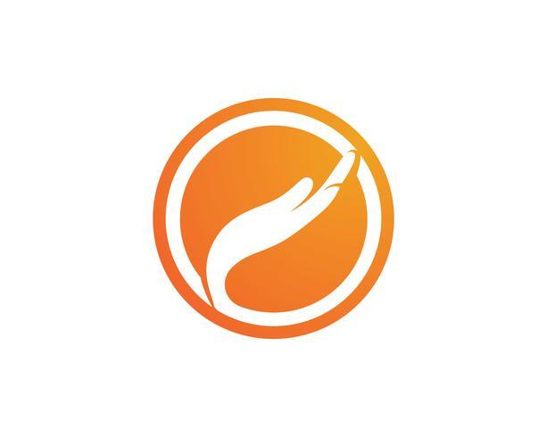 Hand Care Logo Template ícone de vetor símbolos de negócios