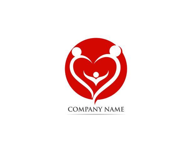 Amo o logotipo vermelho e o vetor de símbolo