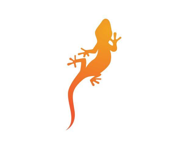 Lizard Chameleon Gecko Silhouette negro vector negro