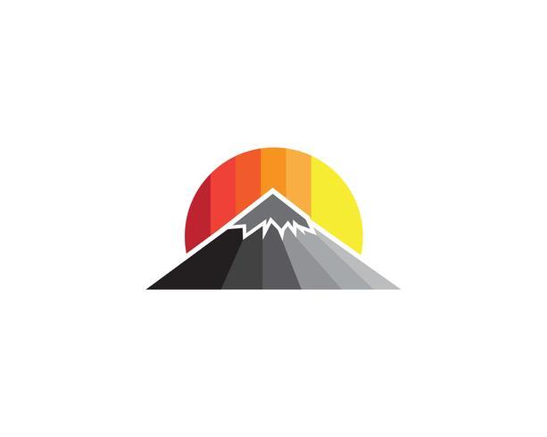 Logo et symbole de vecteur de montagne