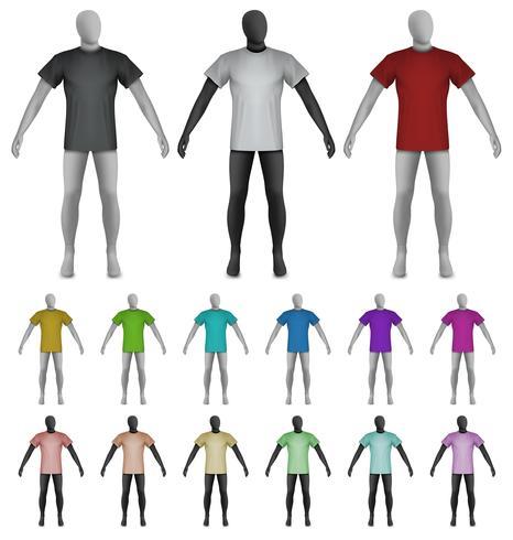 Effen t-shirt op etalagepop torso sjabloon