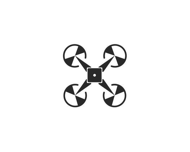 Logo de drone et illustration vectorielle symbole vecteur