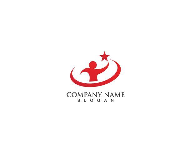 Modelo de vetor de logotipo de cuidados de saúde