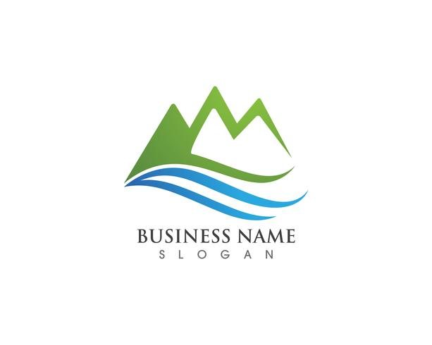 Mountain logo and symbols  vector