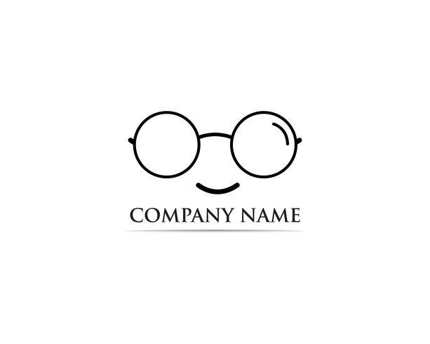Glasses Logo Design vector