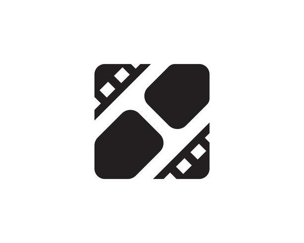 Filmvideosymbolslogotyp och ikonmall