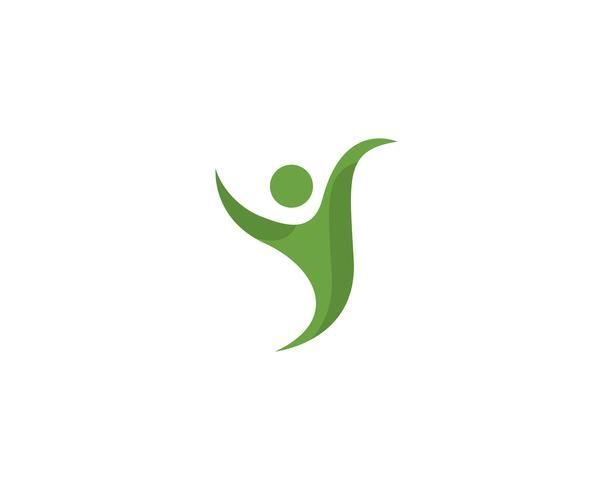 Vettore del modello di logo di vita sana