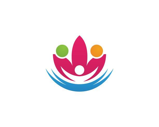 Beauté Vector Lotus design logo icône de modèle - vecteur