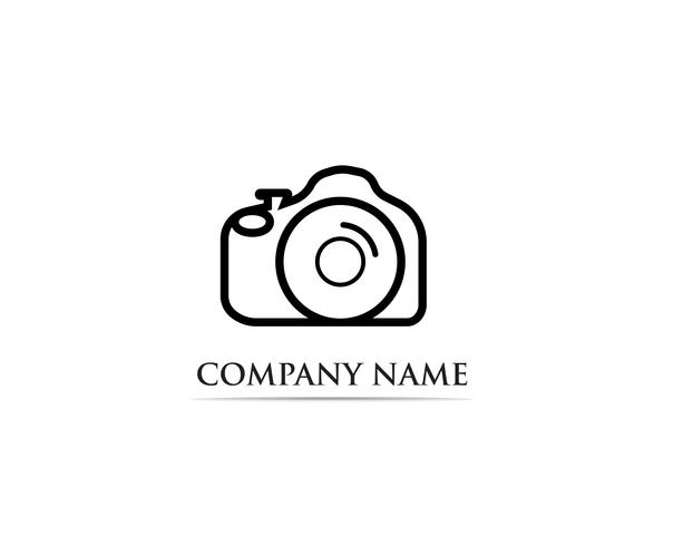 Fotografie Logo Vector illustrator zwart
