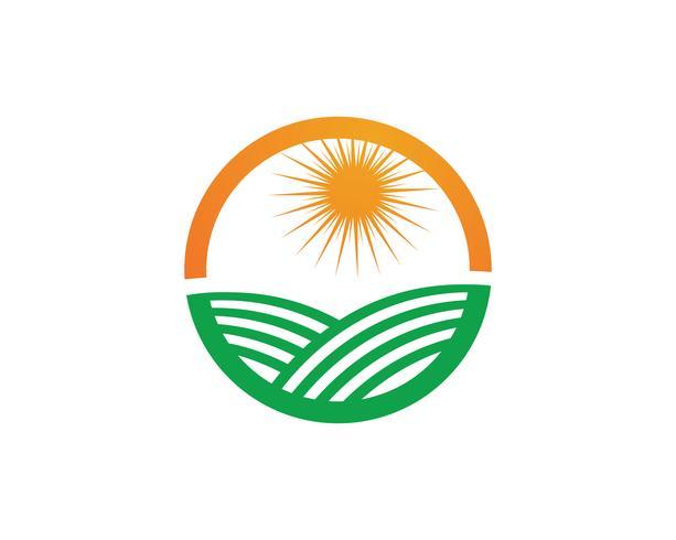 Landbouw bedrijfslogo sjabloon unieke groene vector afbeelding
