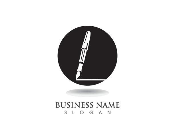 pen Logo template Vector illustration business