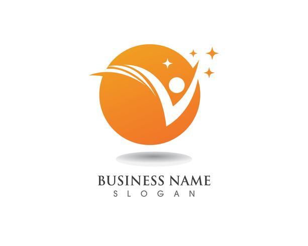 Logotipo de pessoas de sucesso