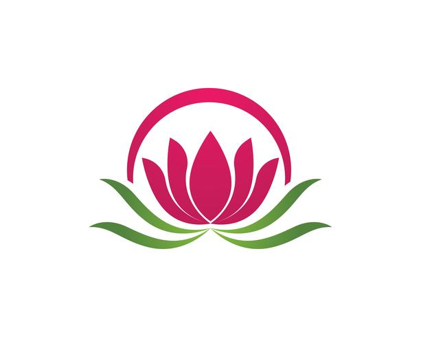 Schönheits-Vektor Lotus-Blumen entwerfen Logo Template-Ikone - Vektor