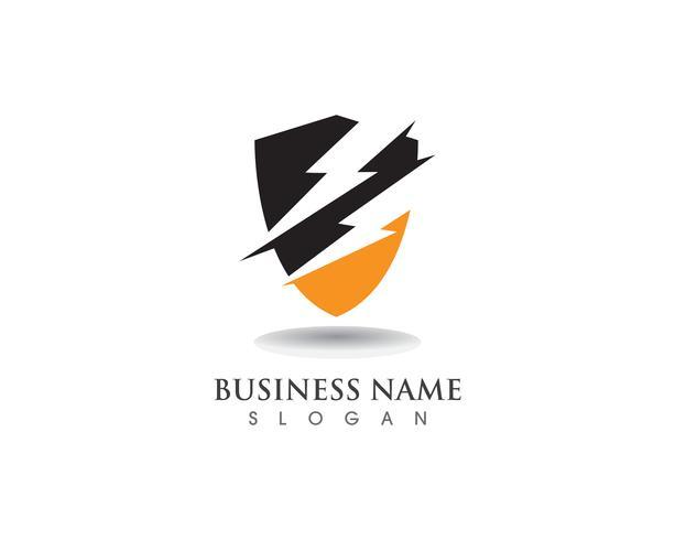 Protetor de escudo logo design vector escudo