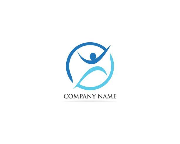 Gezondheidszorg logo vector sjabloon