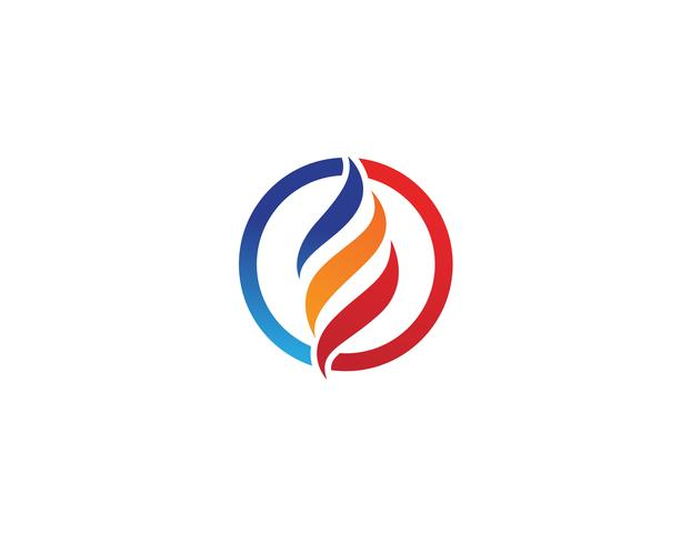 Vectores de plantillas de logotipo de fuego