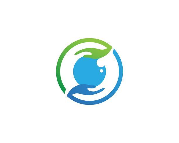 Oog Hand logo en symbolen sjabloon pictogrammen