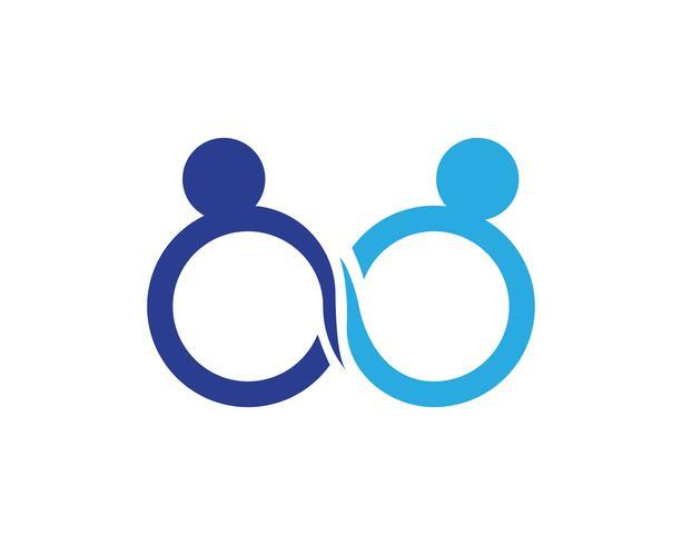 Infinity adoption logo och symboler vektor mall