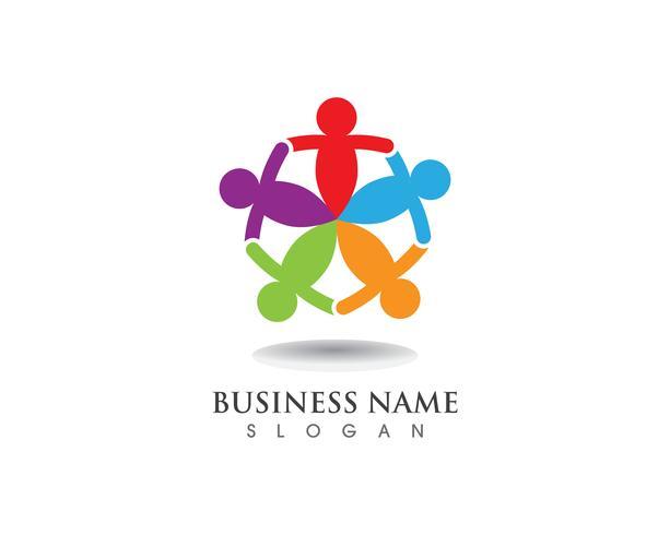 Logotipo da comunidade e modelo de símbolo