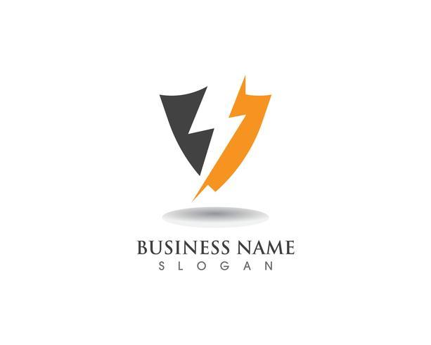 Schild bewaker logo ontwerp vector schild