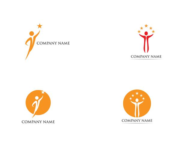 Modelo de vetor de logotipo de pessoas de sucesso