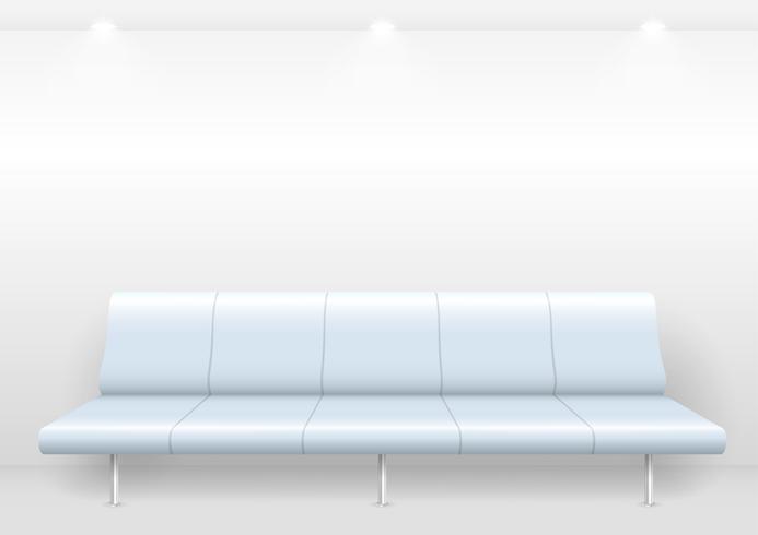 Sofá moderno en la sala de espera.