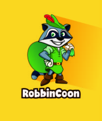 Desenhos animados de mascote de personagem de desenho animado de guaxinim