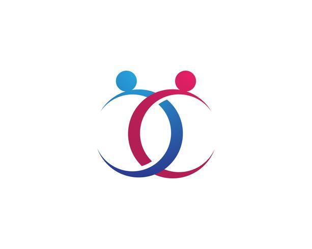 Icone di vettore del modello di logo di adozione