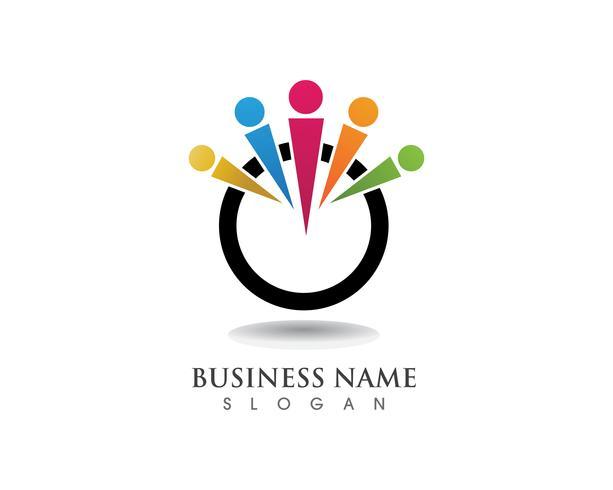 Annahme-Logo und Symbolvektor