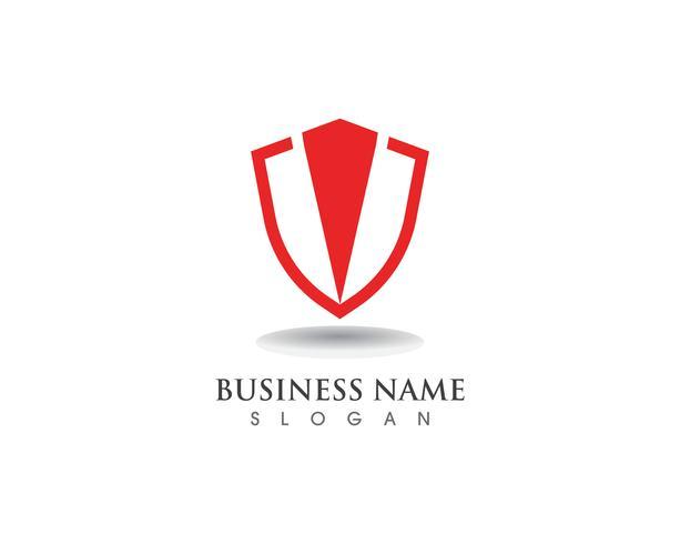 Sköldvakt logotyp design vektor sköld