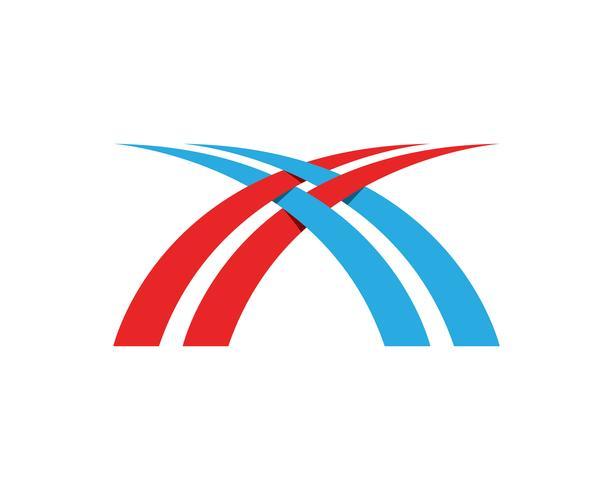 Bridge logo symbols vector eps template