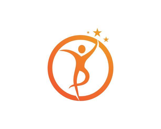 logotipo de sucesso de líder de navio de pessoas e símbolos vetoriais