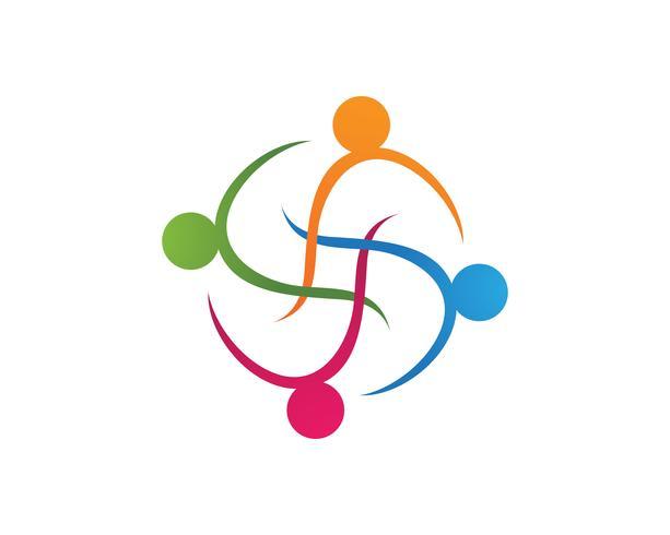 Samling av människor ikoner i cirkel - Vector Concept Engagement, Samhörighet