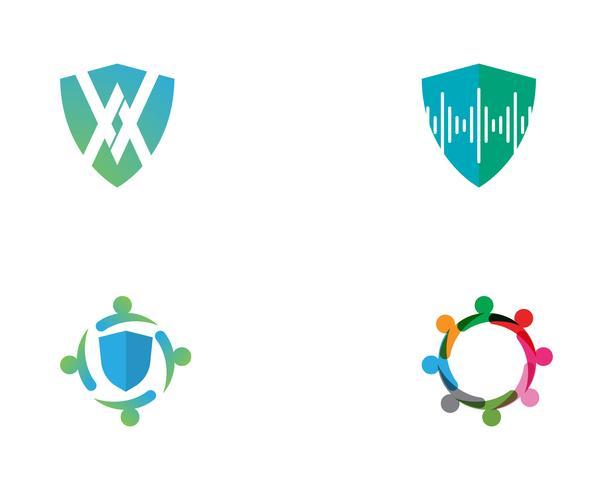 modelo de vetor de logotipo de escudo