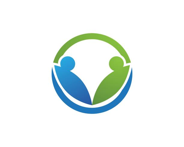 Icona di vettore del modello Logo di adozione