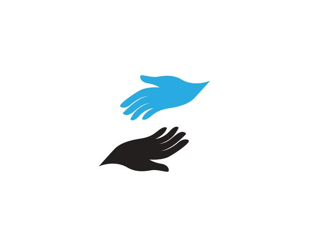 Hand care logo and symbol vector