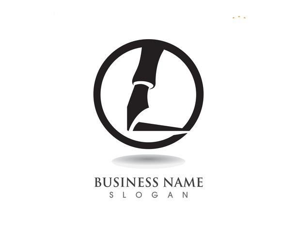 stylo Logo modèle entreprise d'illustration vectorielle