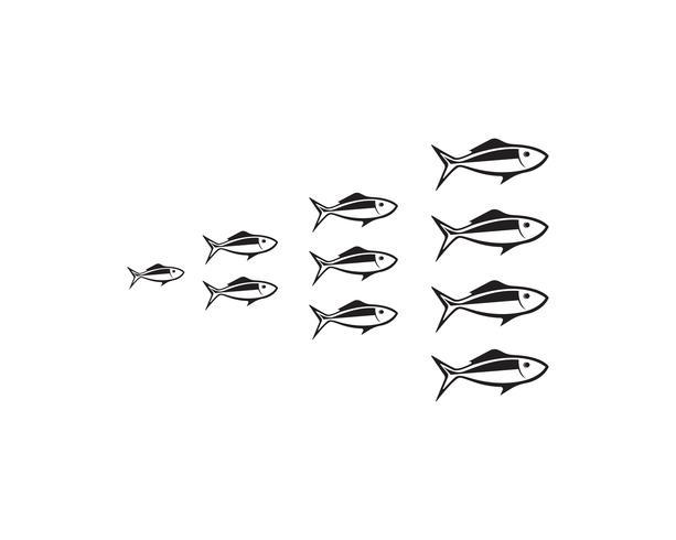 pesci sfondo vettori